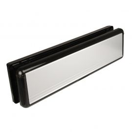 10 inch silver uPVC Door Letterbox with 20-40mm sleeve