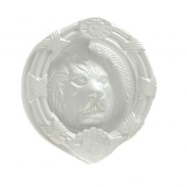 "6"" Rounded Lions Head Door Knocker White Semi Gloss"