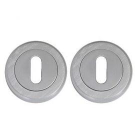 Z109 Oval Escutcheon Lock Cover, Chrome Satin