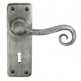 Z128 Lock Pewter Door Handle