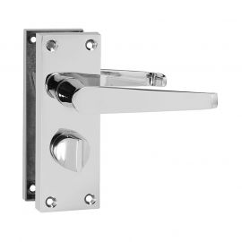 Z207 Victorian Straight Privacy Door Handle Polished Chrome