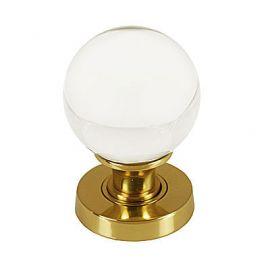 Z26 Glass Ball Mortice Door Knob Brass Polished
