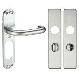 Z312 RTD Square Bathroom Stainless Steel Door Handle, Grade 304 Stainless Steel