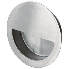 Z504 Satin Stainless Steel Half Moon Flush Sliding Door Handles