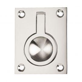 Z505 Polished Chrome Flush Ring Pull Door Handles