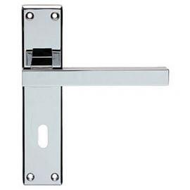 Z64 Lever Backplate Door Handle Chrome Polished