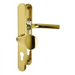 D275 - 92pz 62pz Offset uPVC Door Handles, Brass