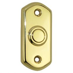 Contemporary Bell Push Brass Polished