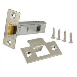 DL01 Tubular Door Latch, Faceplate & Screws - Etched Chrome