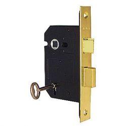 Mortice Door Lock Brass Polished