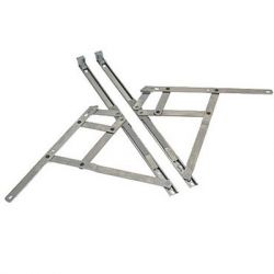 Pair of 16 Inch Top Hung Restrictor Window Hinges(H04)