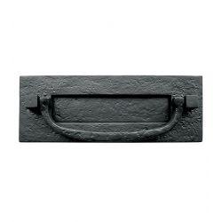 LB5 Antique Black Knocker Letterplate