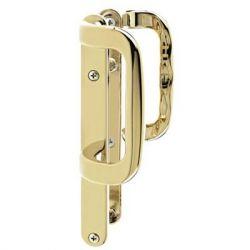 P22 Non Locking Patio Door Handle Gold Polished