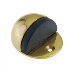 Half moon door stop polished brass