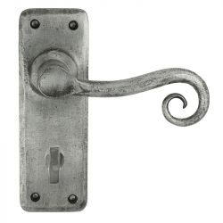 Z129 Bathroom Pewter Door Handle