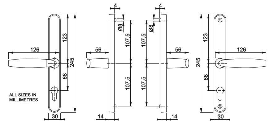 Diagram Image for D28 Hoppe Brugge - 68PZ - 215mm Centres