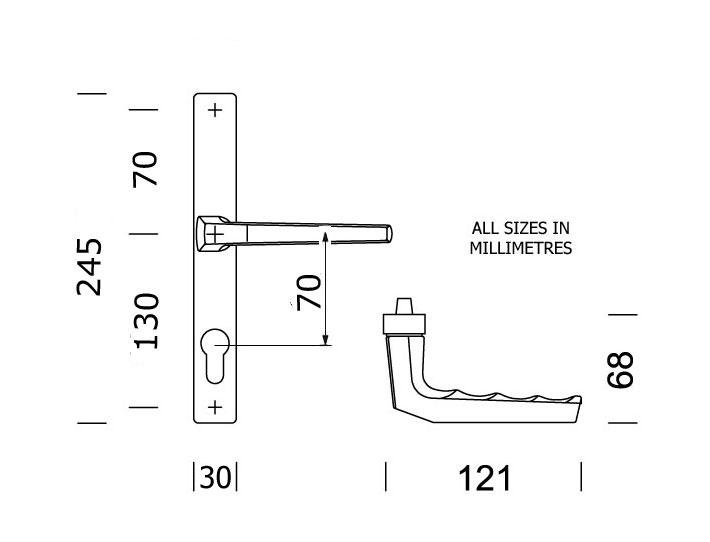 Diagram Image for D64 Hoppe Frankfurt - 70PZ - 200mm Centres