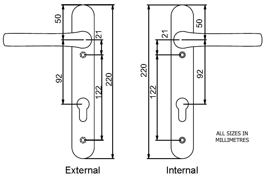 Diagram Image for D71 Mila Prolinea - 92PZ - 122mm Centres