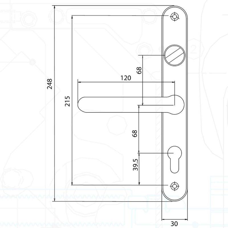 Diagram Image for D74 Fullex Snib - 68PZ - 215mm Centres