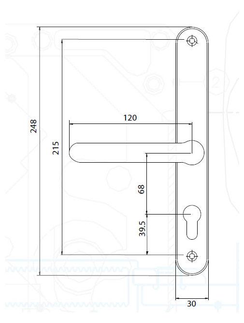 Diagram Image for D83 Fullex Farnham - 68PZ - 215mm Centres