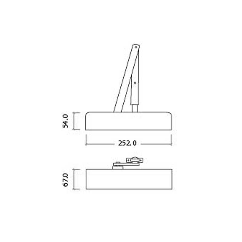 Diagram Image for DC03 Adjustable Door Closer