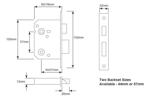 Diagram Image for DL04 Bathroom Sashlock