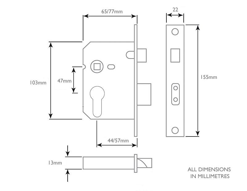 Diagram Image for DL12 Euro Sashlock