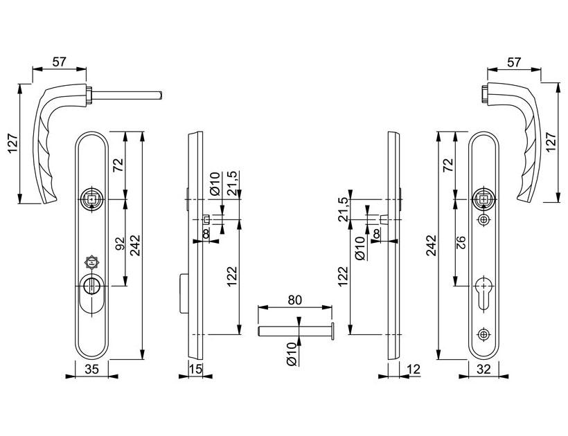 Diagram Image for DS161 Hoppe Atlanta PAS24 - 92PZ - 122mm Centres