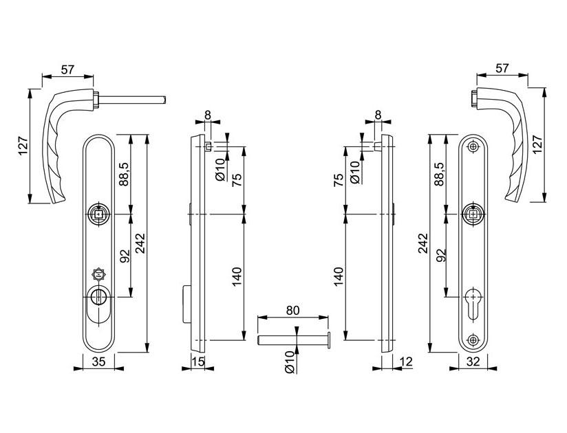 Diagram Image for DS169 Hoppe Atlanta PAS24 - 92PZ - 215mm Centres