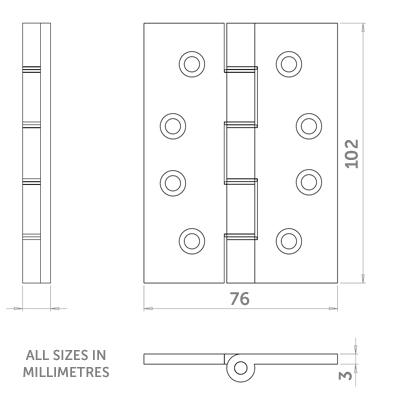 Diagram Image for H13 Grade 13 Door Hinge