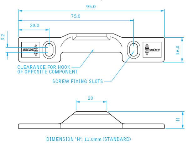 Diagram Image for WA06 - Vector uPVC Window Interlock Brackets