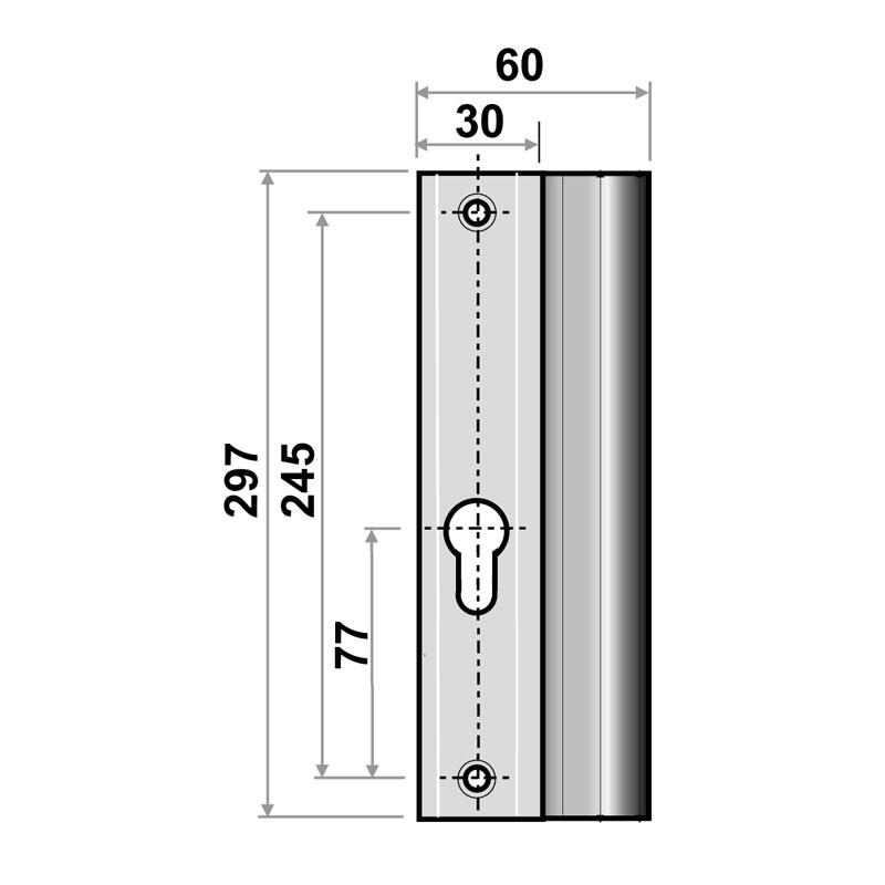 Diagram Image for P24 Repair Patio Door Handle