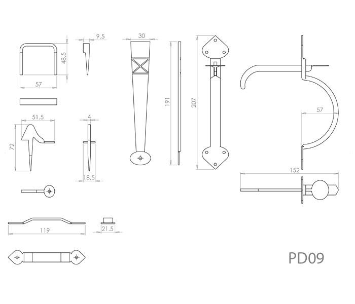 Diagram Image for PD09 Door Latch