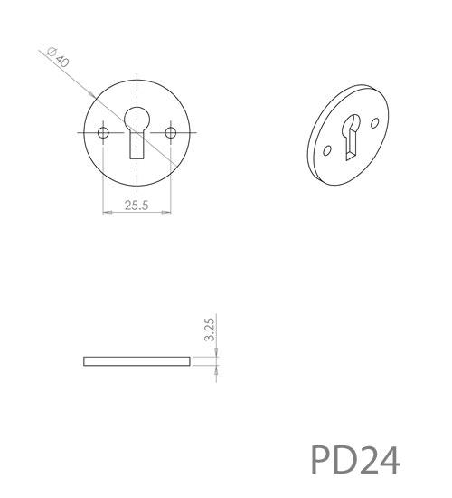 Diagram Image for PD24 Escutcheon