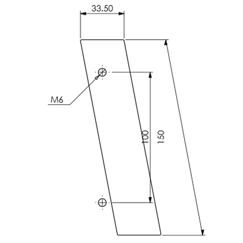 Diagram Image for DK12 Pony Tail Door Knocker
