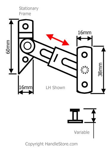 Diagram Image for R04 UPVC Locking Window Restrictor