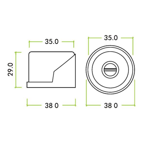 Diagram Image for R53 Floor Mounted Door Stop