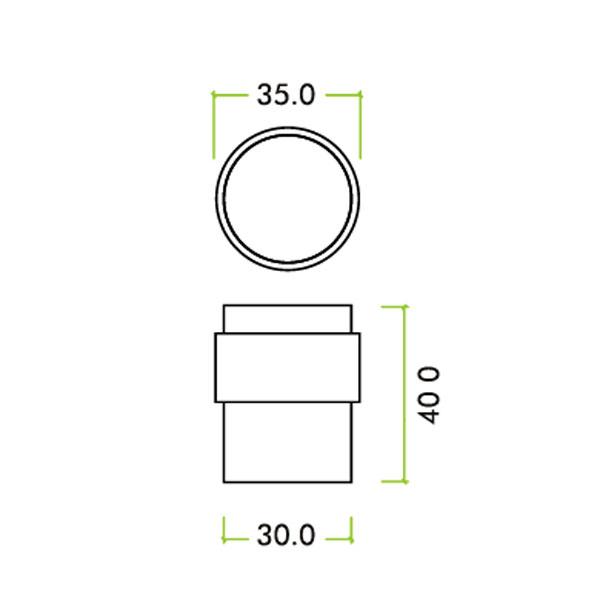 Diagram Image for R55 Flat Door Stop