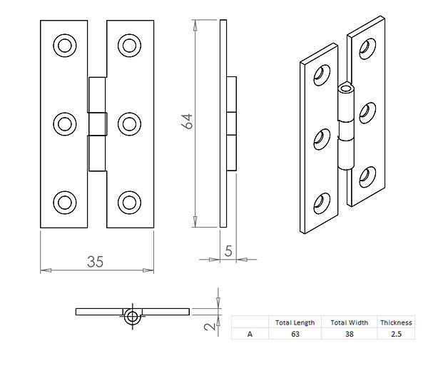 Diagram Image for CH203 Cupboard Hinge
