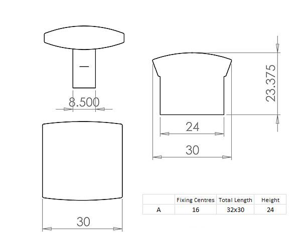 Diagram Image for CH66 Helio Cupboard Knob
