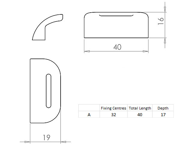 Diagram Image for CH69 Visor Cupboard Knob