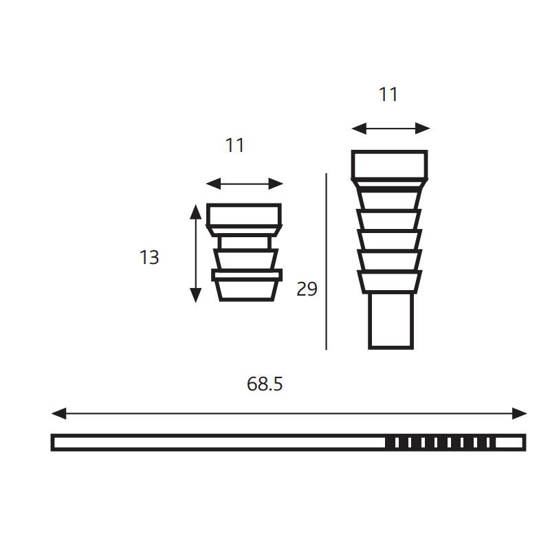 Diagram Image for SW17 Sash Window Screw Locks