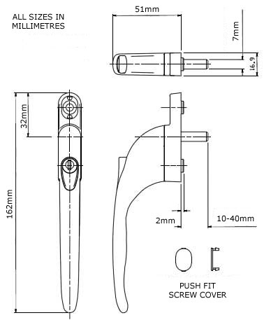 Diagram Image for W08 Replacement Window Handle