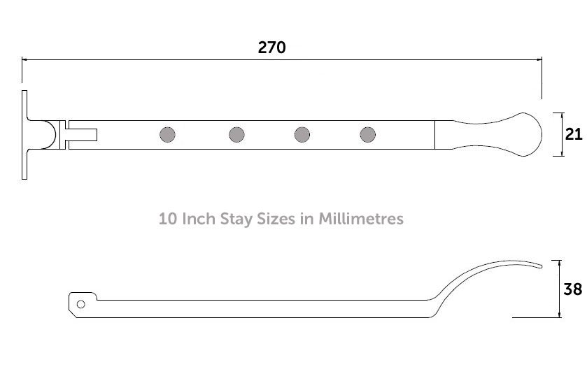 Diagram Image for W47 Traditional Window Stays