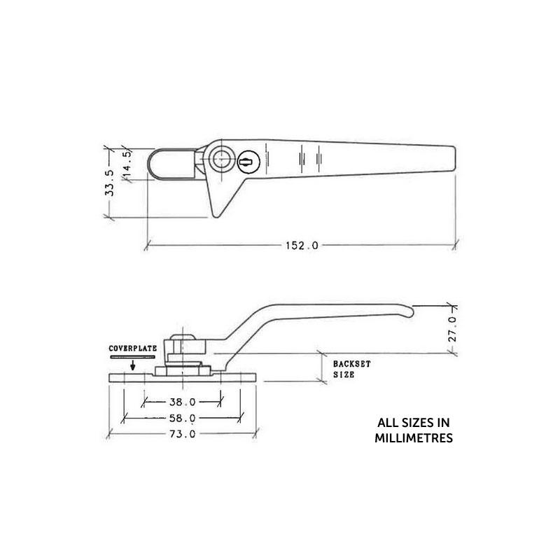 Diagram Image for W50 WMS Cockspur Window Handle