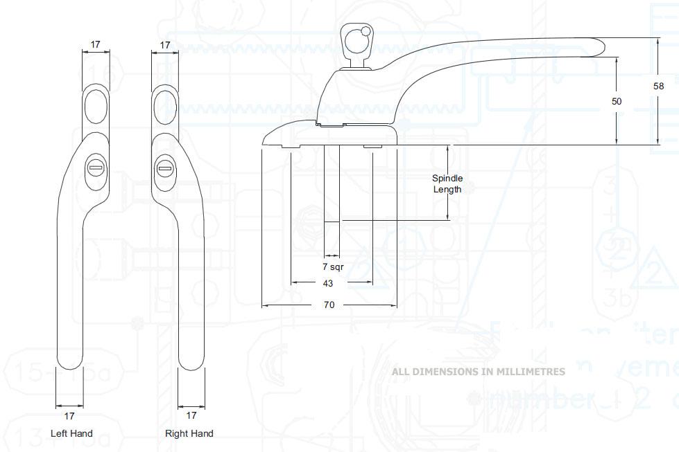 Diagram Image for W86 Cranked Espag Window Handles