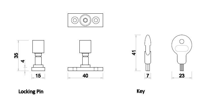 Diagram Image for WA07 - Window Stay Lock