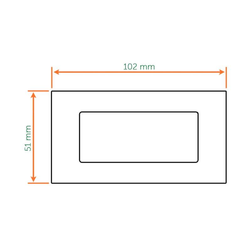 Diagram Image for Z501 Stainless Flush Sliding Door Handles