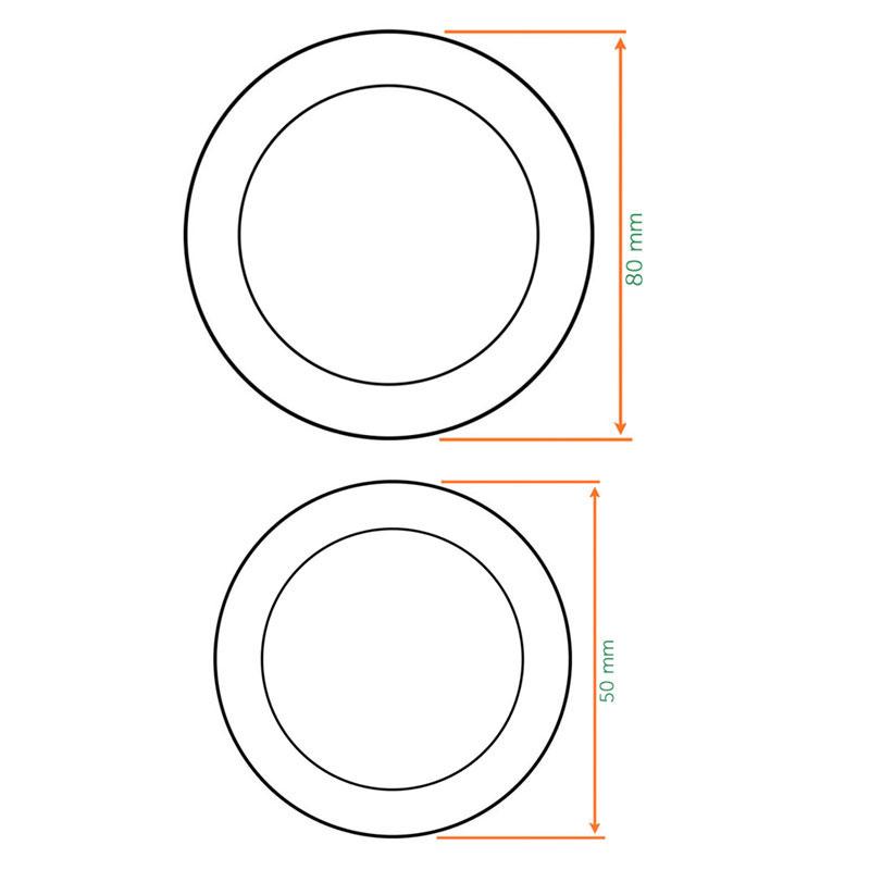 Diagram Image for Z503 Circular Flush Sliding Door Handles