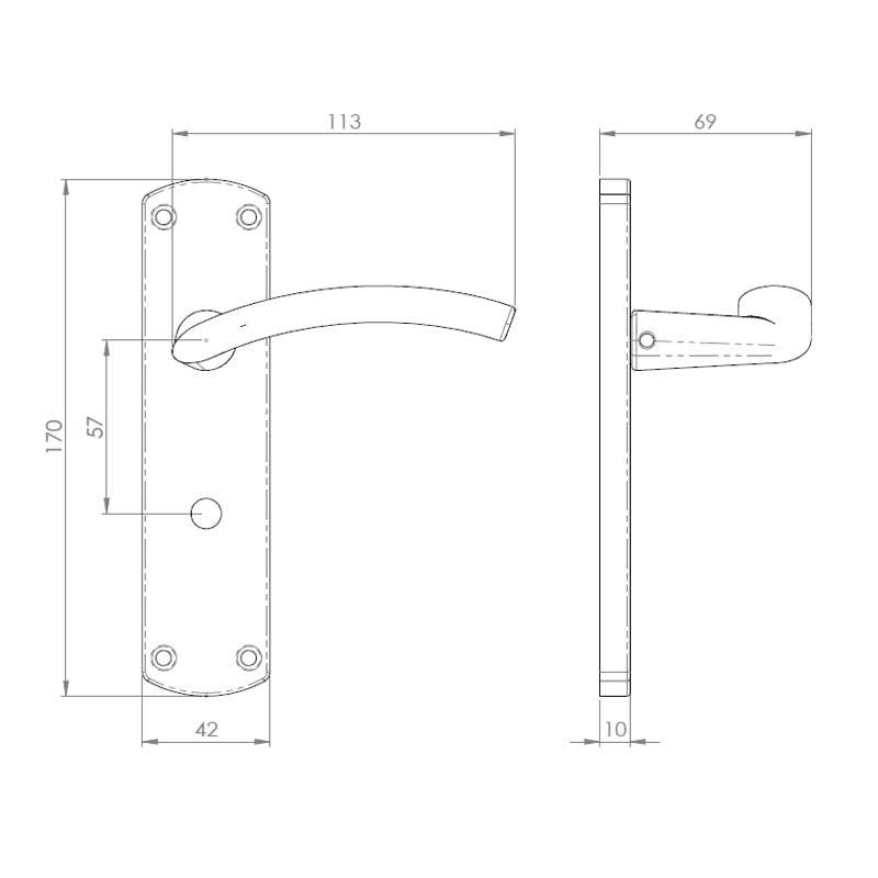 Diagram Image for Z54 Bathroom Door Handles